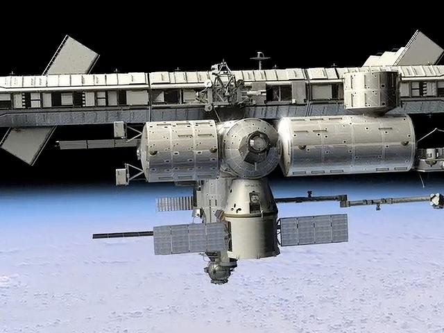 Dragon spacecraft docked with the ISS (Image: SpaceX)