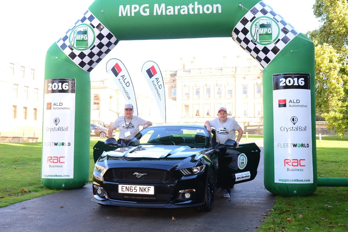 Piloted by rally drivers turned hypermilers Andrew Marriott and Andy Dawson, the Mustang achieved the biggest improvement over manufacturer's claimed mpg in the MPG Marathon's 14-year history.