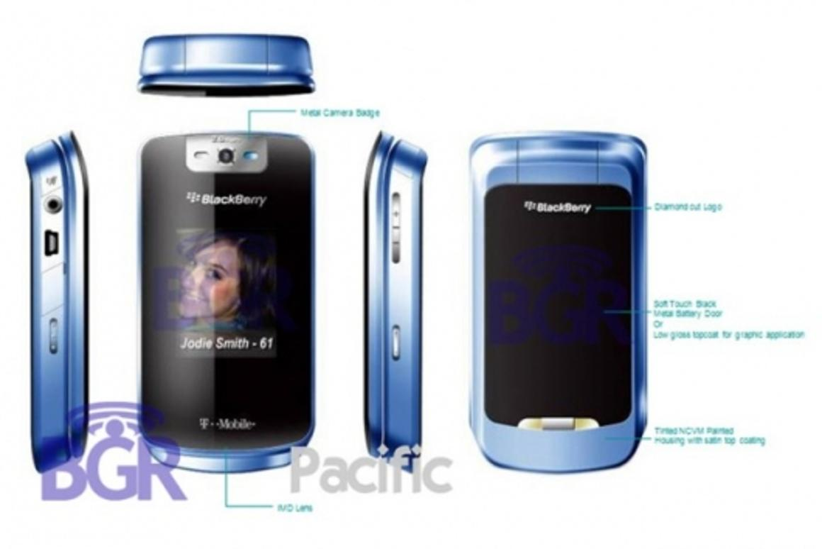 The KickStart clamshell mobile phone.Pic courtesy Boy Genius Report.