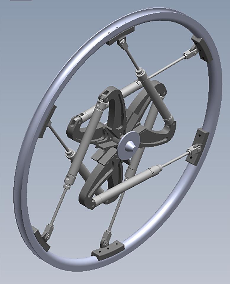 Air Suspension Wheels:design for a mountain bike hub