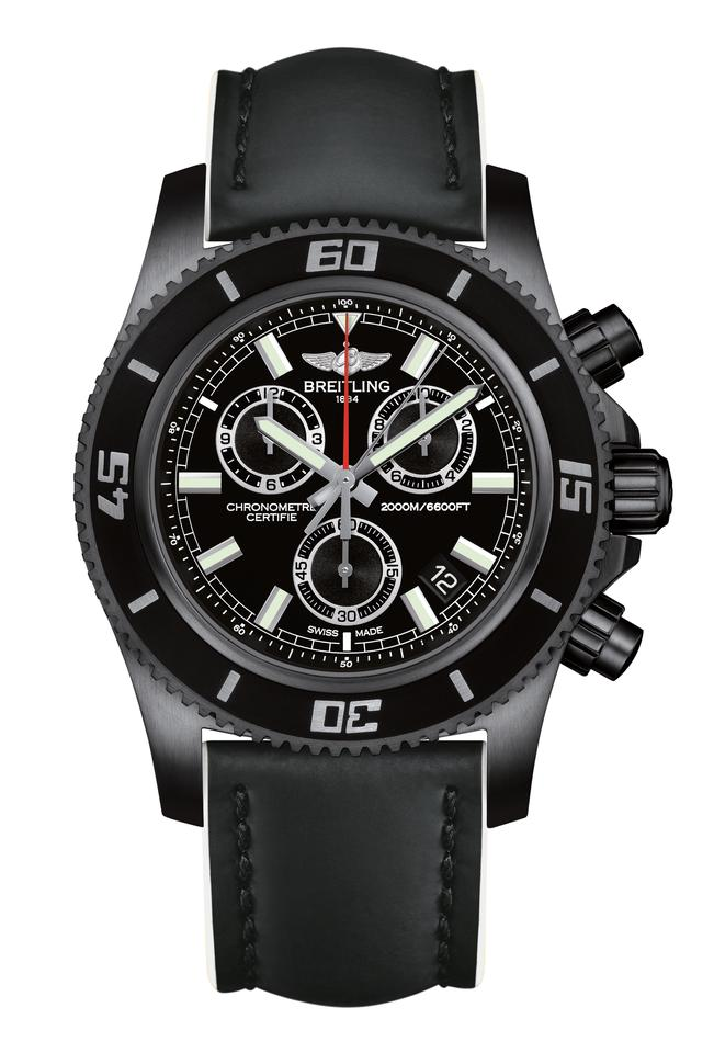 The Superocean M2000 Chronograph is available in s special black edition