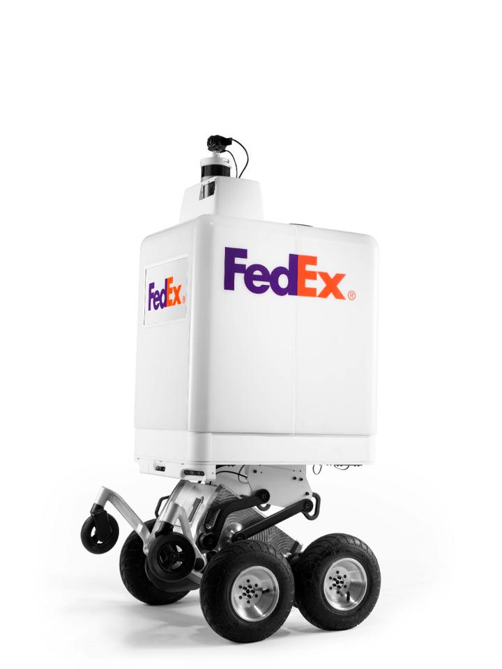 The FedEx SameDay Bot features a host of sensors to help it autonomously navigate city streets, while machine learning algorithms take care of obstacle detection and avoidance, and route plotting