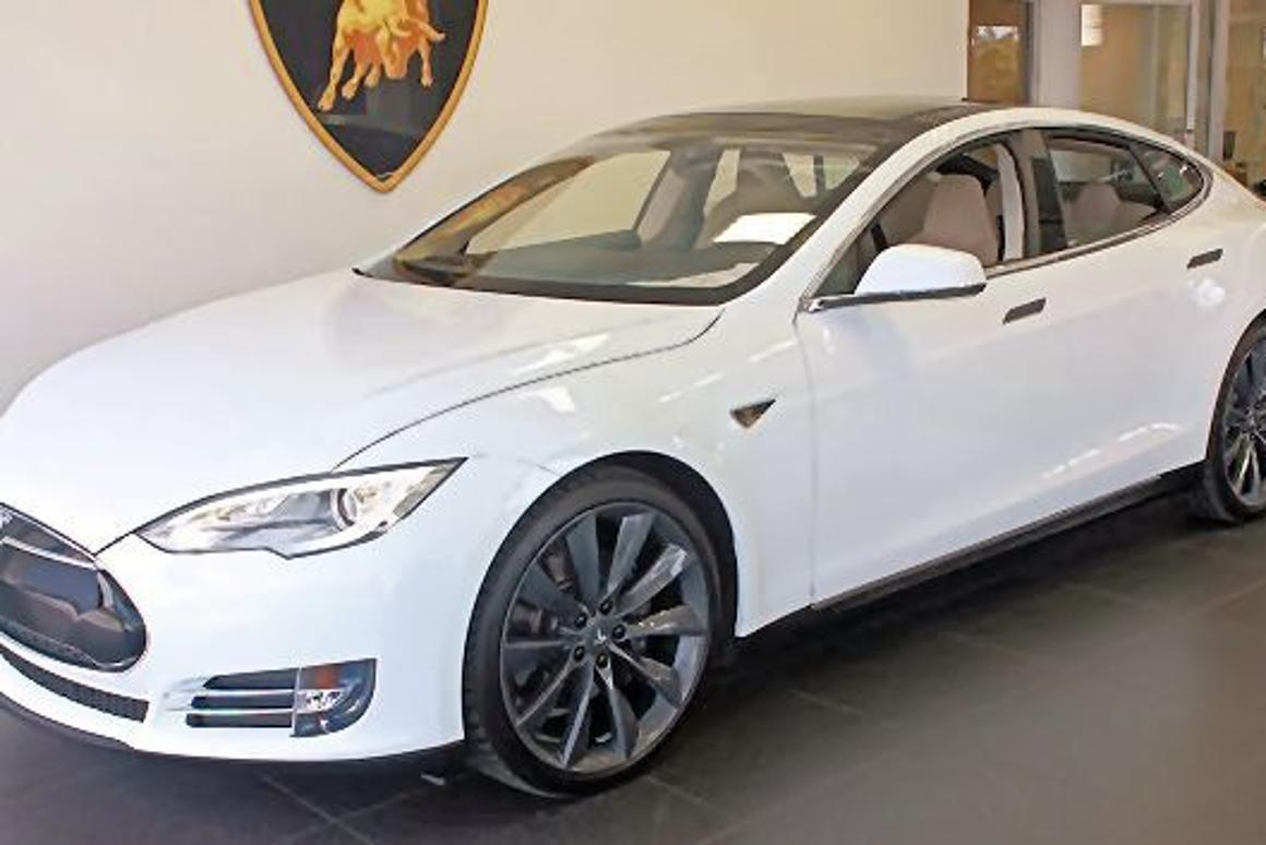 This used 2013 Tesla Model S was purchased for 91.4 Bitcoins (Photo: Lamborgini Newport Beach)