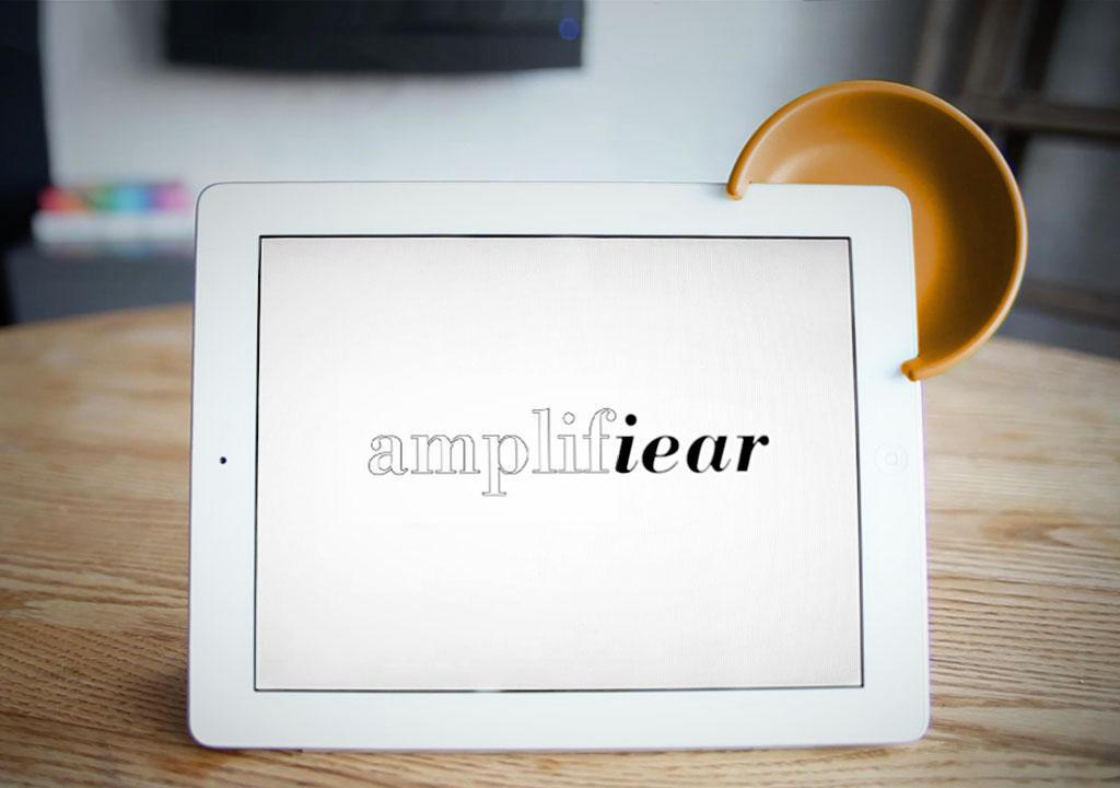 The Amplifiear easily clips on to the iPad 2 and third-generation iPad