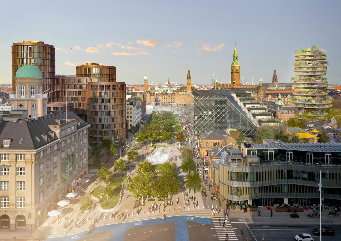 Urban design firm Gehl also plans to transform a major shopping area nearby into a 10,400 sq m (111,944 sq ft) urban park open to pedestrians and cyclists