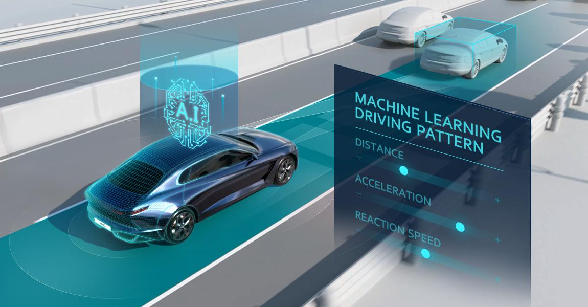 Hyundai calls its new system SCC-ML, or Machine Learning based Smart Cruise Control