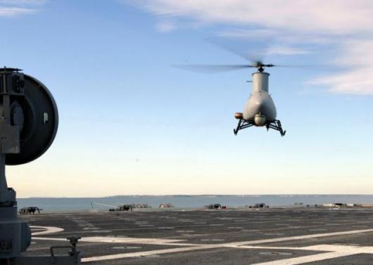 Fire Scout UAV completes first autonomous ship landings