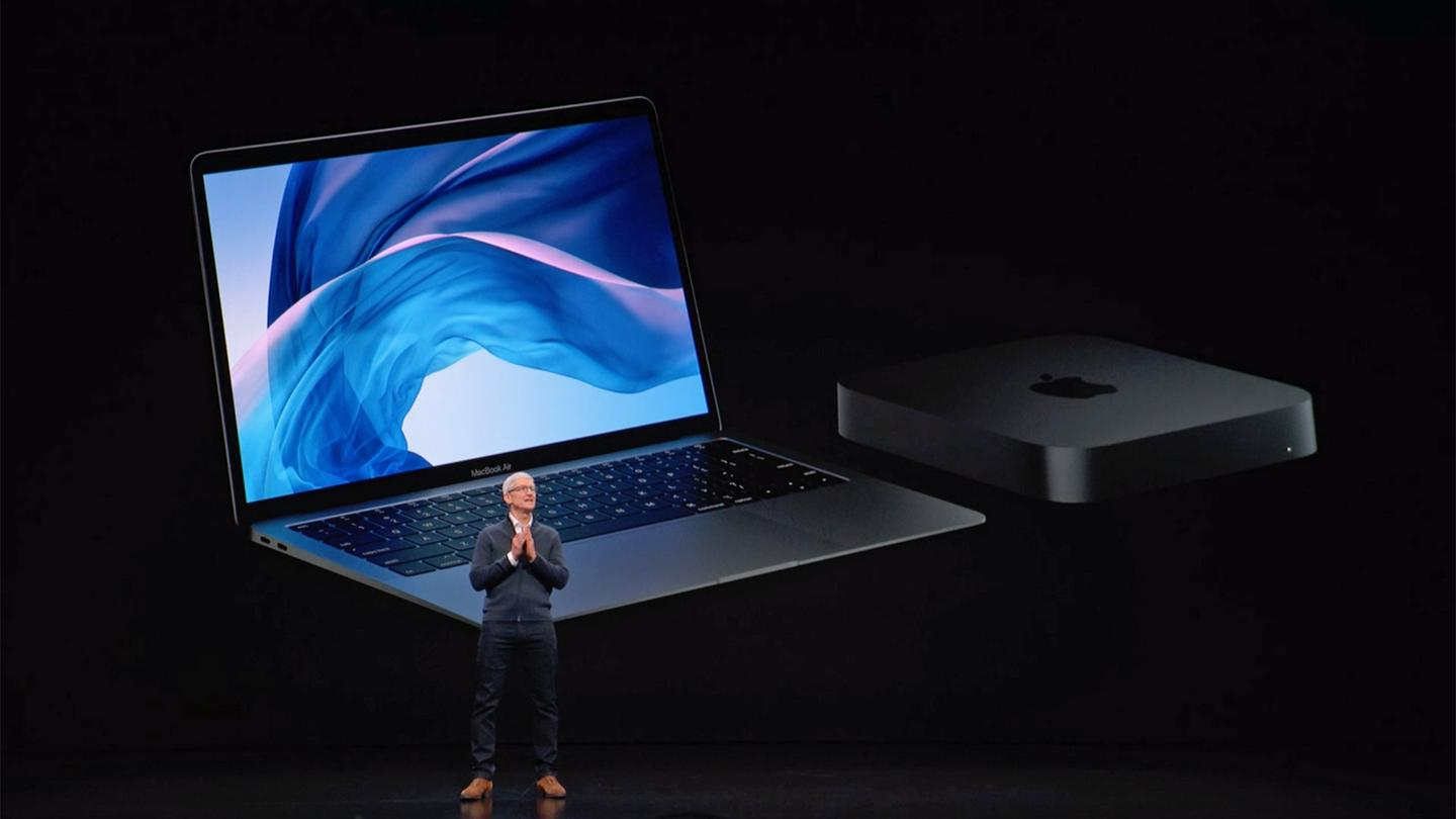 Apple has been showing off the new MacBook Air and the new Mac Mini at a special launch event