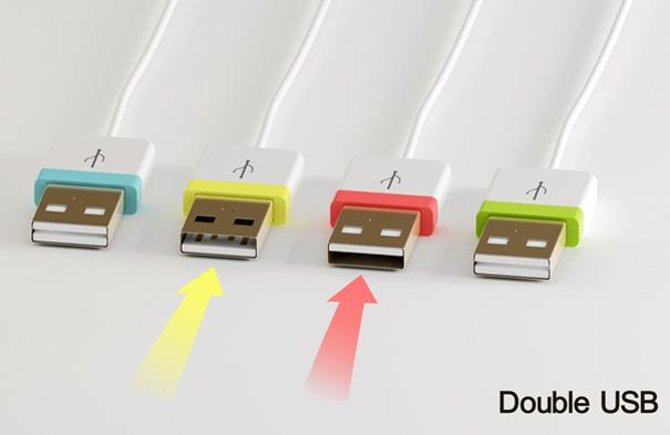 The idea of the Double USB is that whichever way you push it in, it will always connect