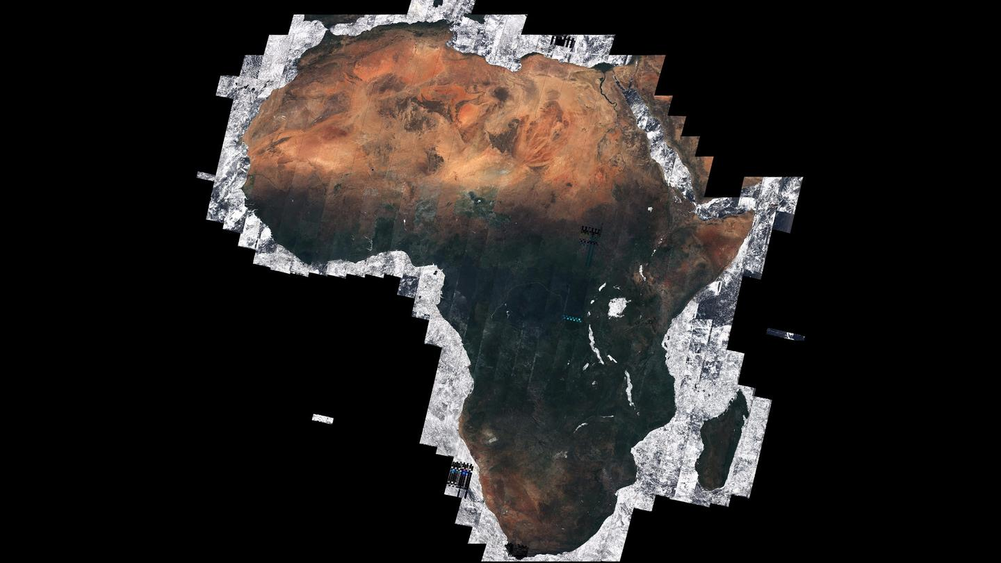 The mosaic is the first of its kind, generated as part of the ESA's Climate Change Initiative Land Cover project