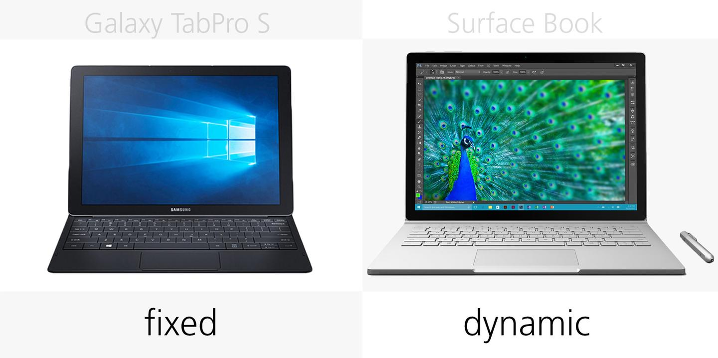 Screen angle positions in laptop mode