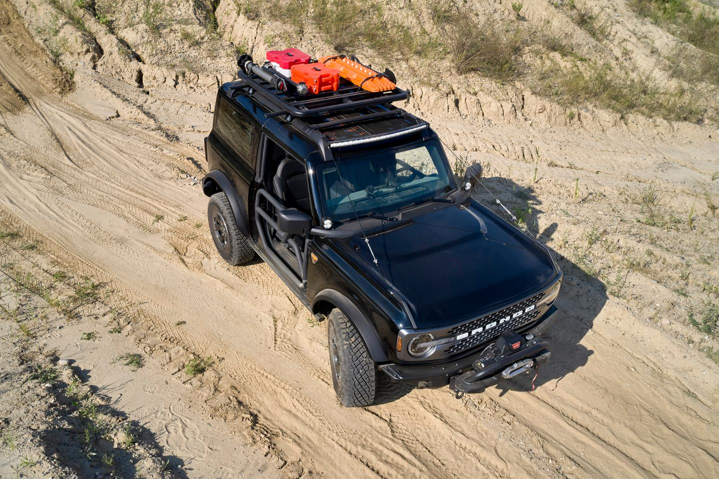 Like the other concepts, the Bronco Two-Door Trail Rig includes Yakima roof storage