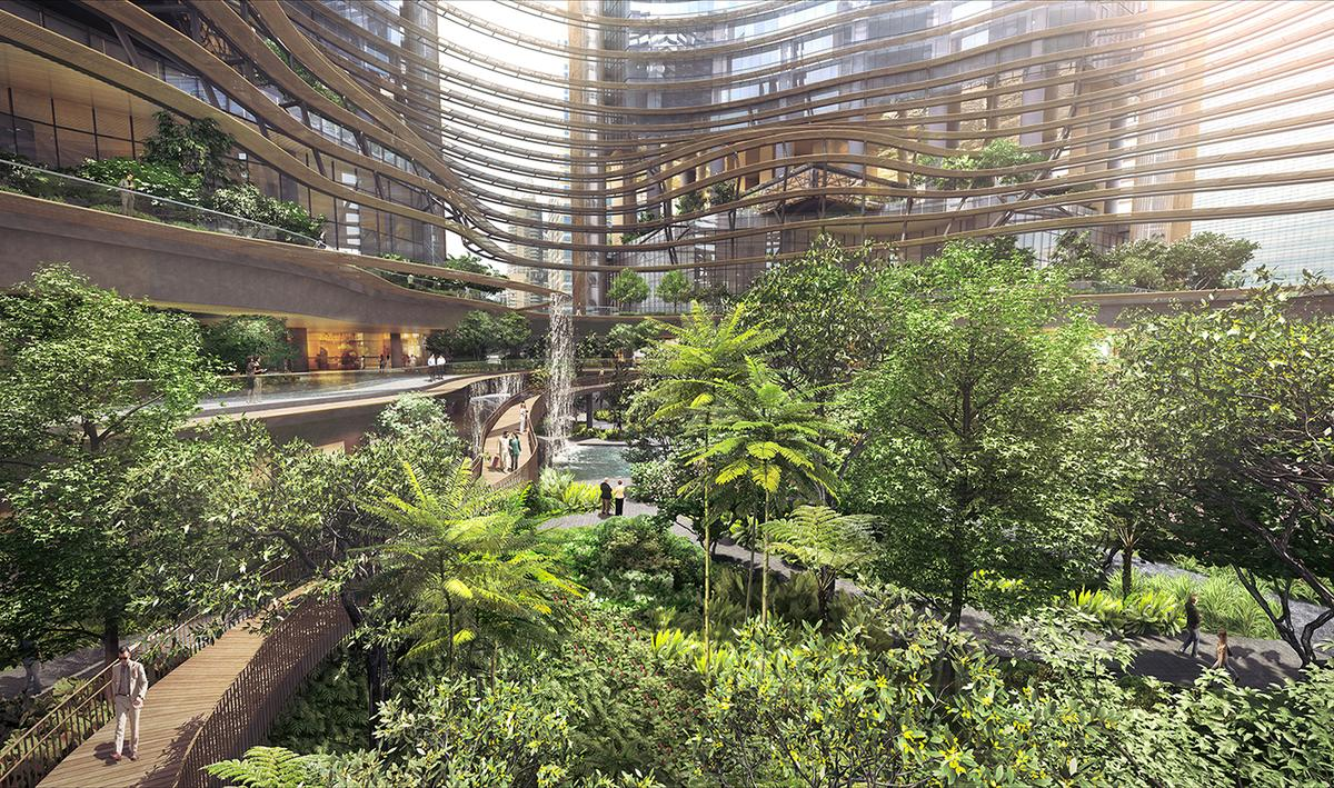 A mixture of tropical trees and plants will be spread across multiple levels