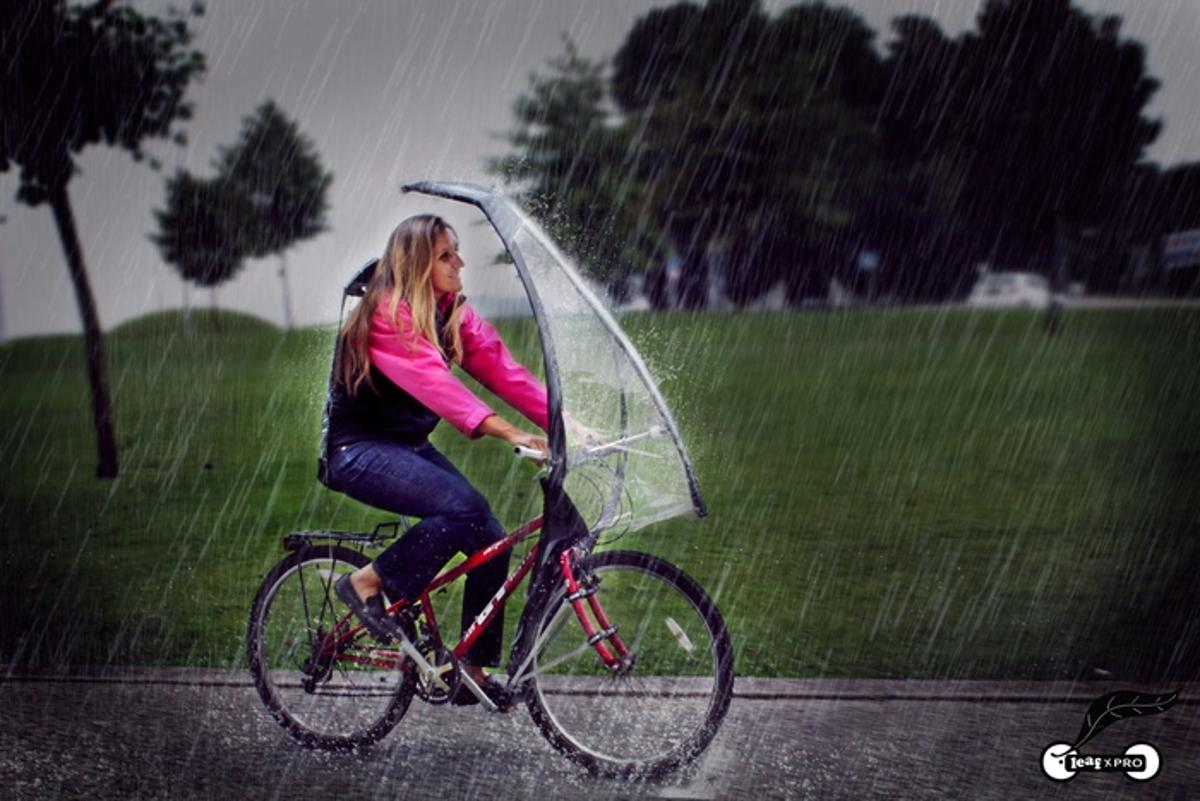 The LeafxPro aims to keep cyclists dry in a downpour