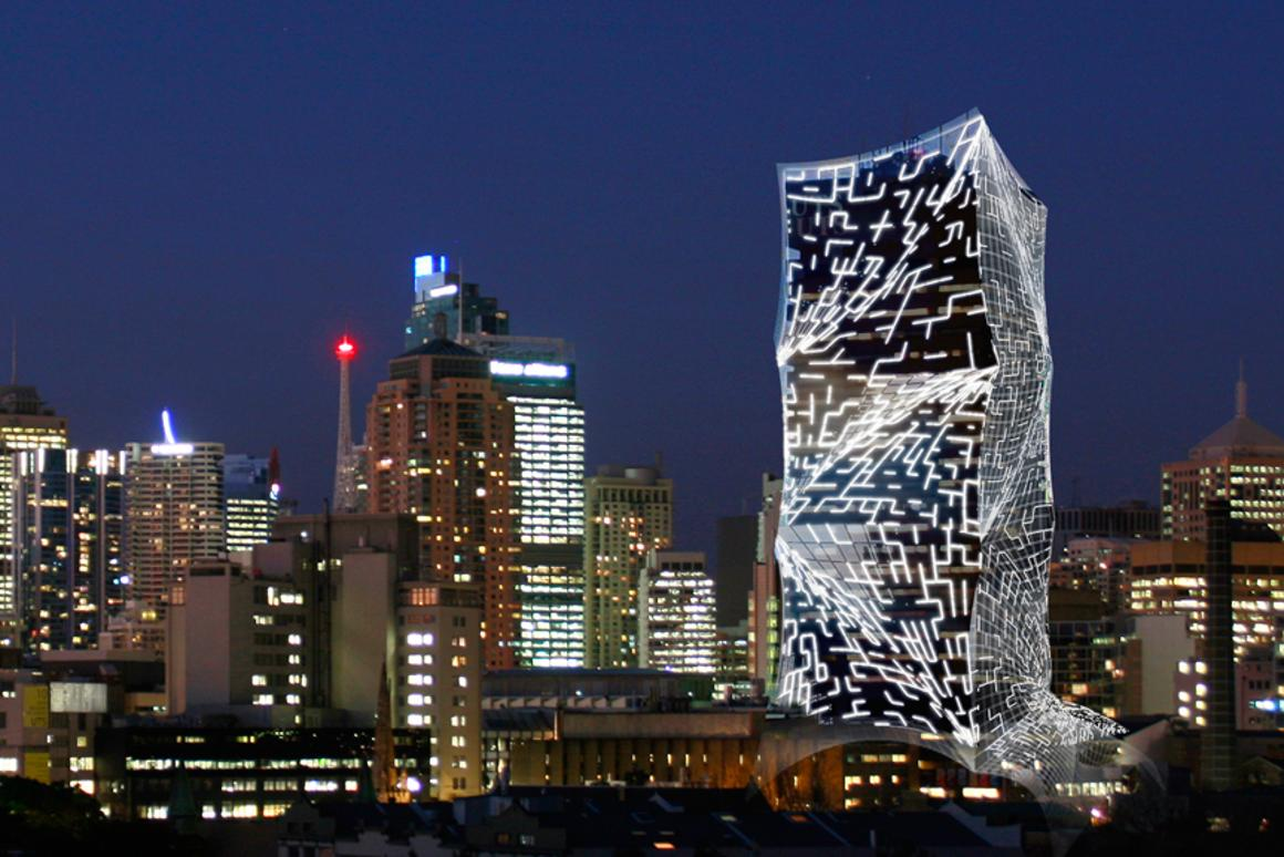 The Tower Skin concept covers outdated buildings in an eco-friendly cocoon