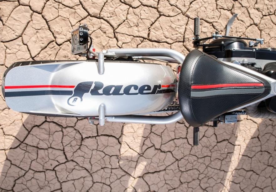 Racer motorcycle - View from above