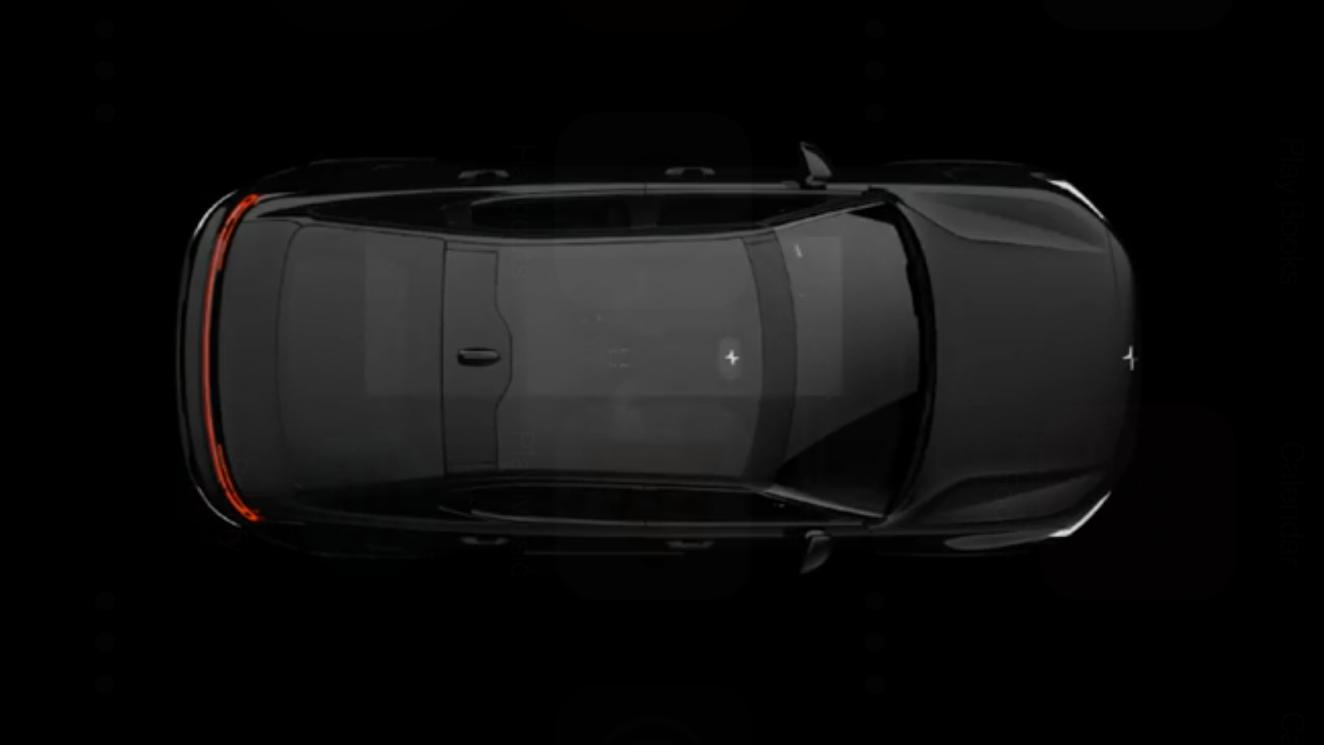 The Polestar 2, sized and priced to compete with Tesla's Model 3