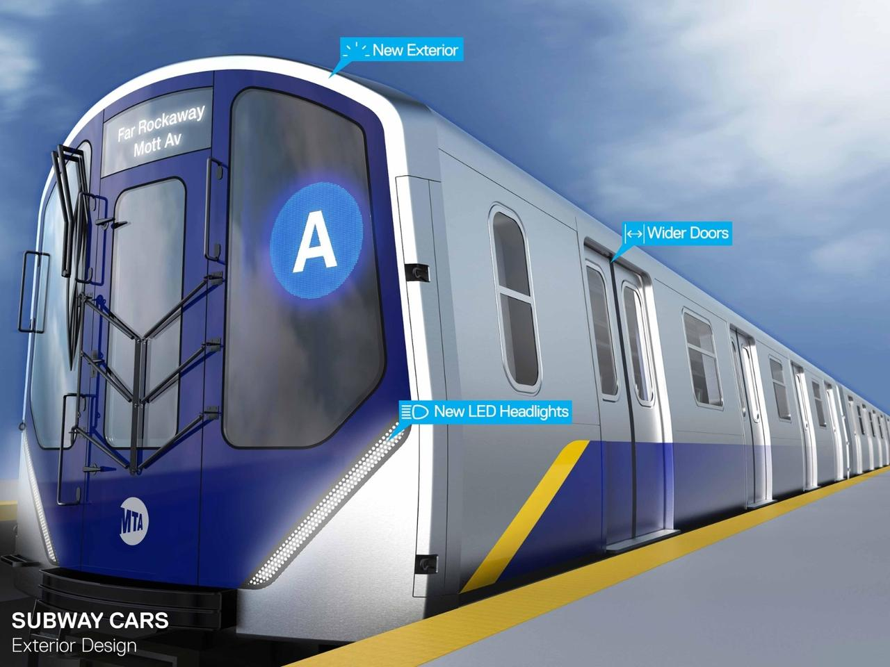 On their exteriors, the trains will boast large front windows, LED headlights and revised graphics