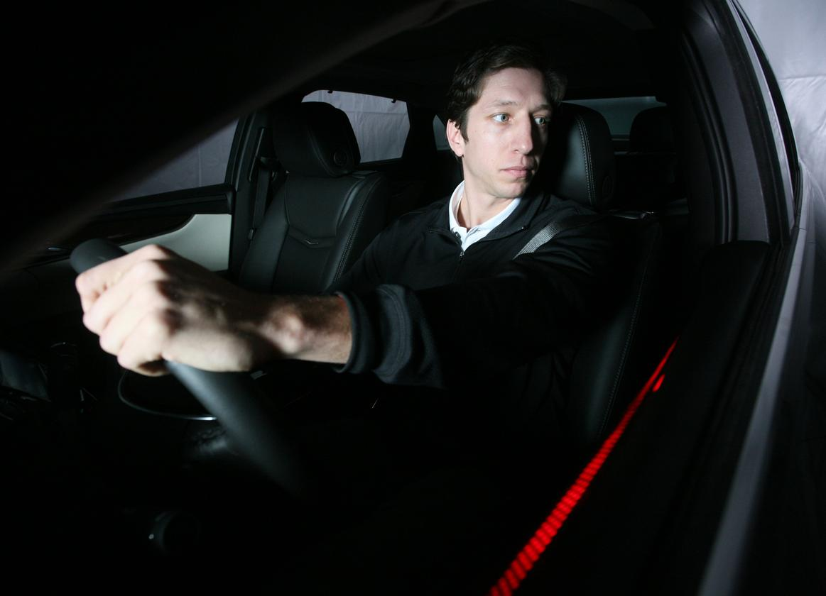 Continental's system uses LEDs to alert distracted drivers to dangerous situations