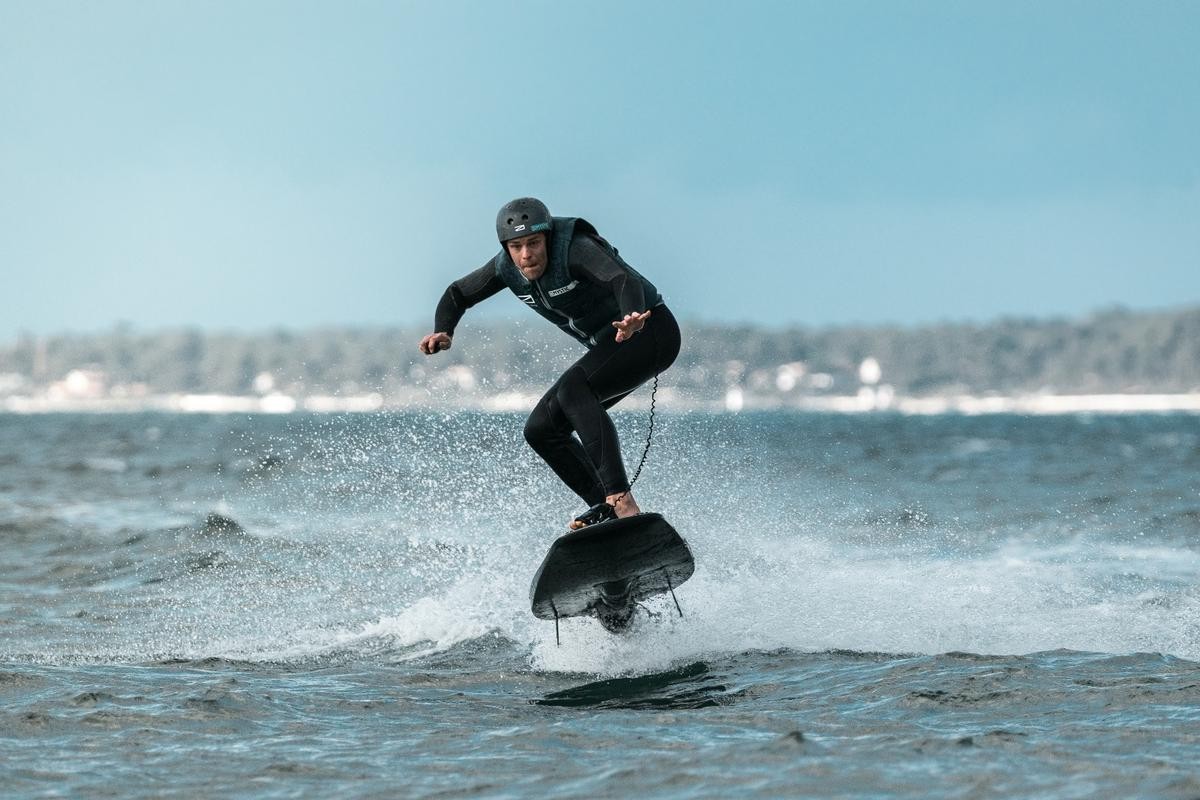 The Ravik, by Awake Boards, is a high-powered electric beast capable of 35 mph over the water