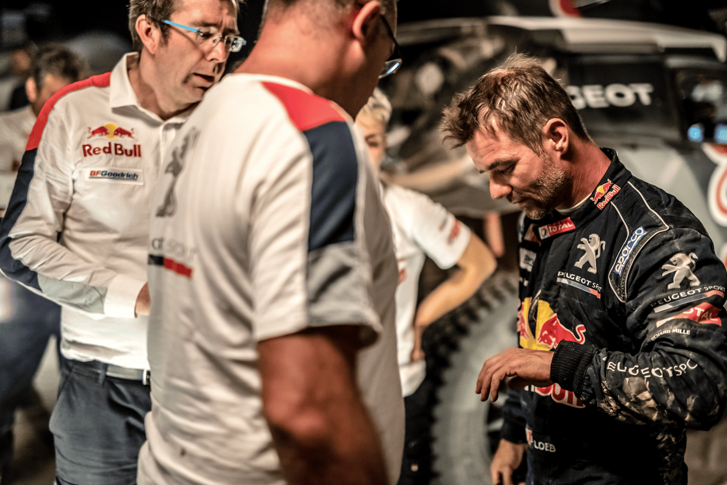 A flat-looking Sebastien Loeb after retiring from theSilkWayRally