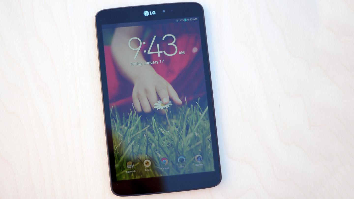 Lock screen on the standard LG version of the G Pad 8.3