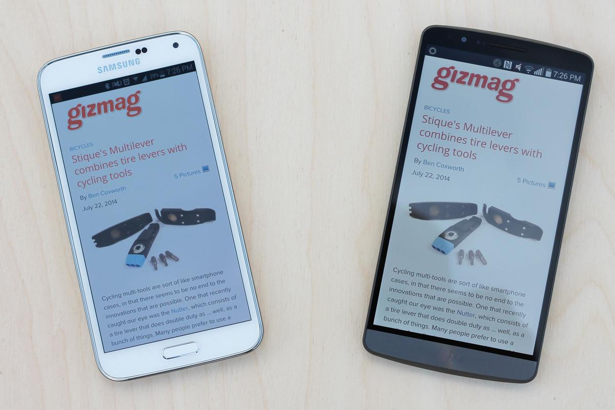 It's a battle of the best Android smartphones, as Gizmag goes hands-on with the Samsung Galaxy S5 and LG G3