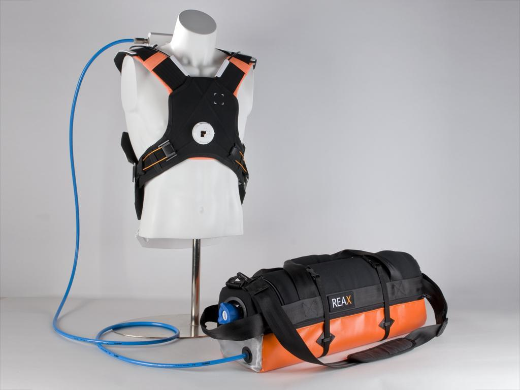 The REAX re-animation system delivers regular chest compressions at just the right of pressure