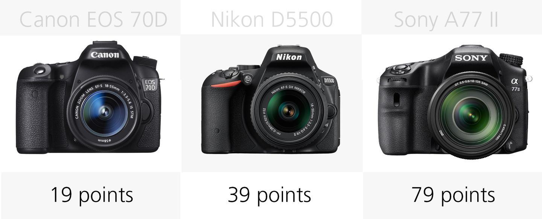 Autofocus comparison (Canon EOS 70D, Nikon D5500, Sony A77 II)