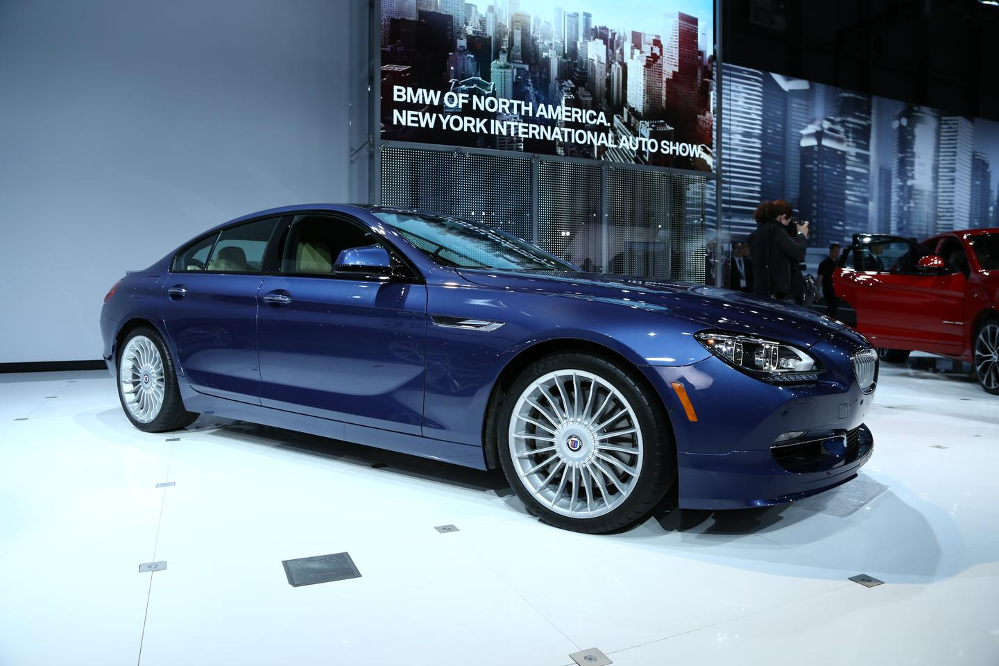 The US$118,000 BMW Alpina B6 Gran Coupe features a 540 hp 4.4 liter twin-turbo V8, that's good for 198 mph (318 km/h) via an 8-speed automatic gearbox and all-wheel drive powertrain (Photo: Angus MacKenzie/Gizmag.com)