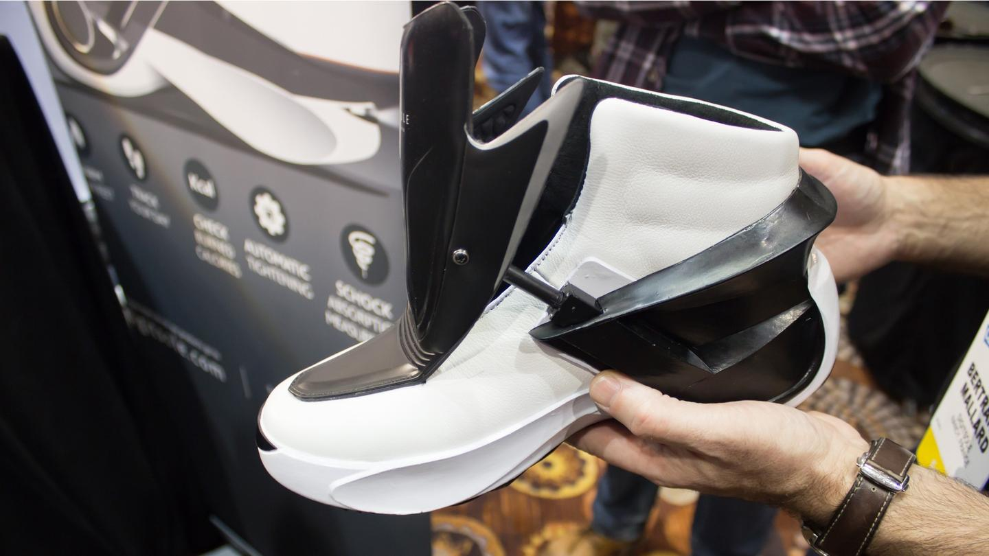 You can use a paired smartphone to control the heat, lights and tension in the Digitsole Smartshoe
