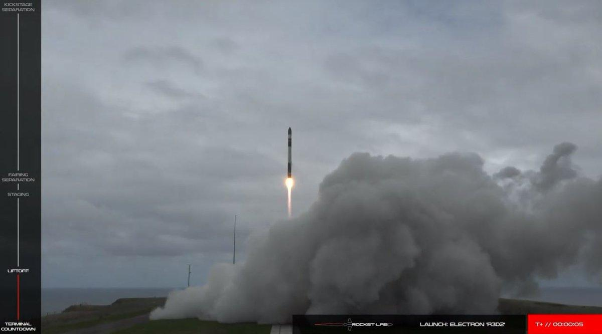 Electron lifts off with DARPA's payload in tow