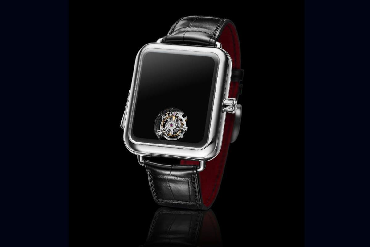 The Swiss Alp Watch Concept Black has no hands or face markings