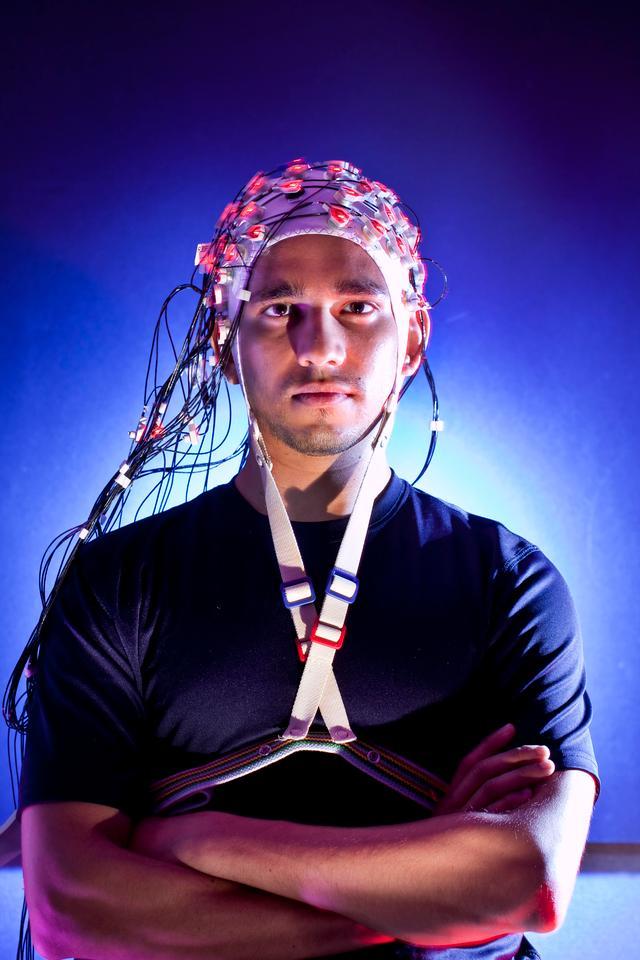 University of Maryland researchers are making headway with brainwave communication (Photo: John Consoli, University of Maryland)