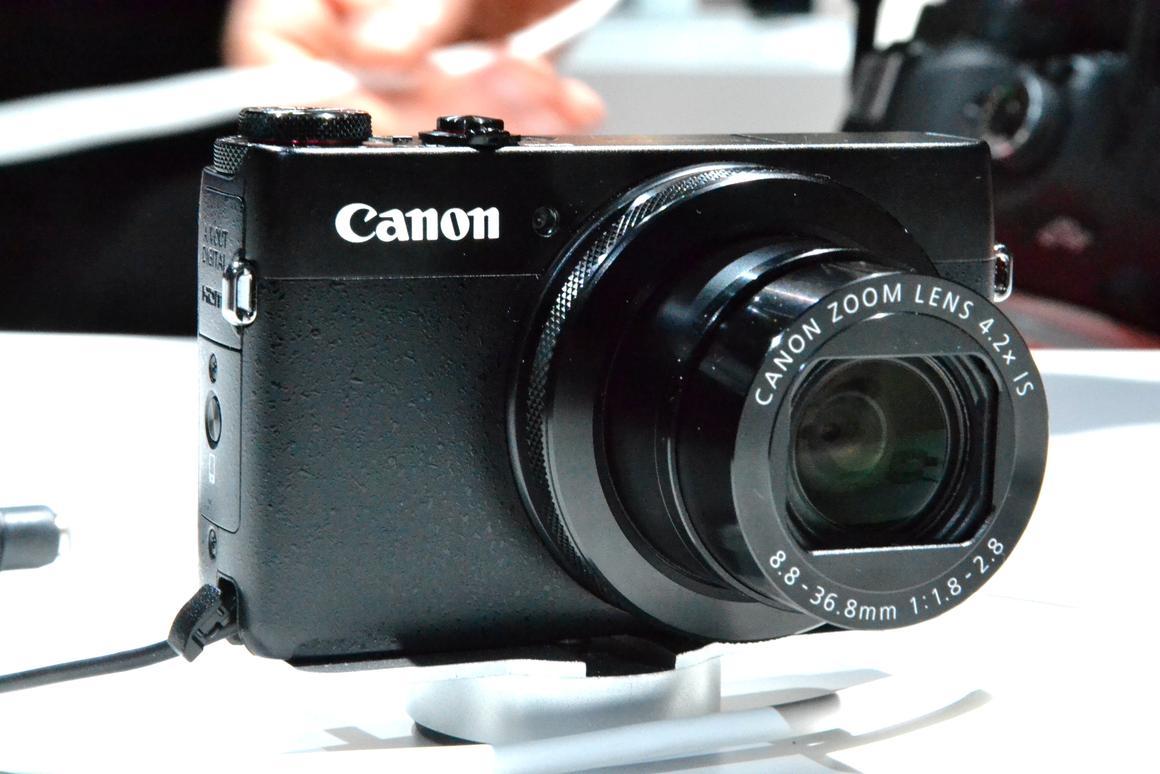 The PowerShot G7 X at Photokina (Image: Paul Ridden/Gizmag)
