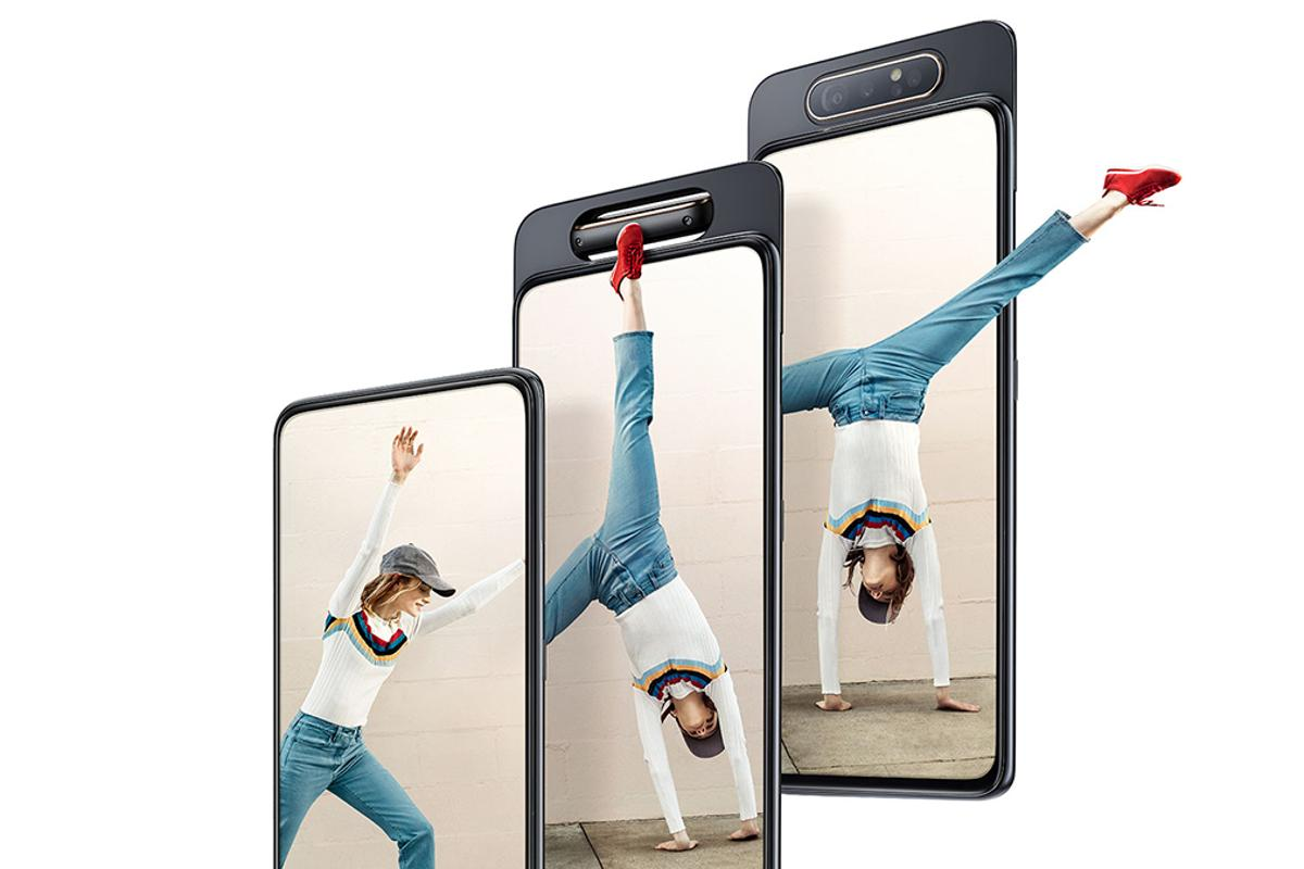 Use the same camera front and back with the Samsung Galaxy A80