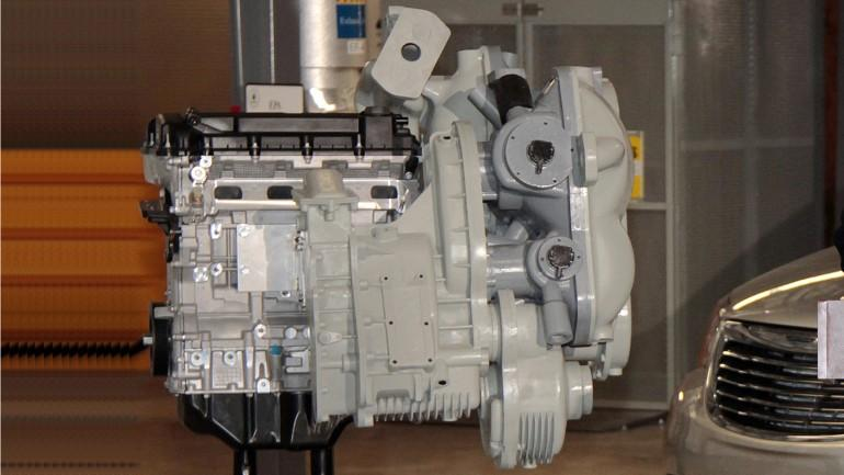 This is the first mock-up of the new hydraulic hybrid engine
