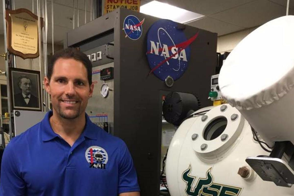 Dr. Dominic D'Agostino in his laboratory at the University of South Florida