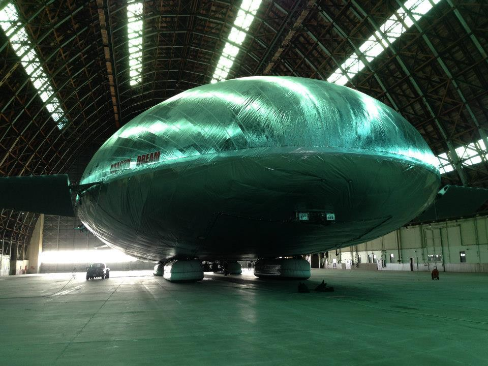 The competed Aeroscraft Aeroscraft airship proof-of-design sub-scale prototype