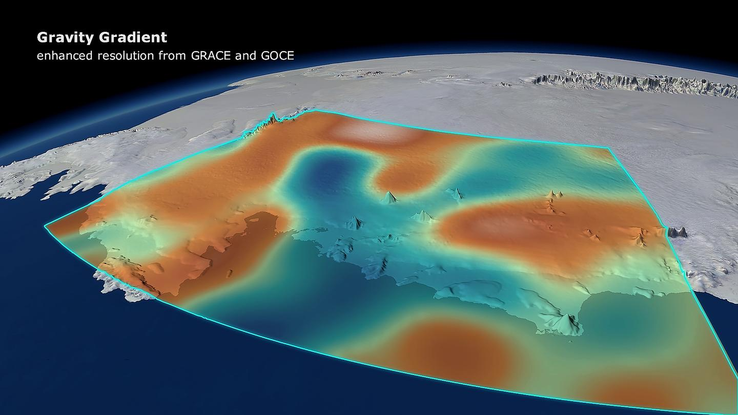 The ice loss caused a small change in the Earth's gravity field