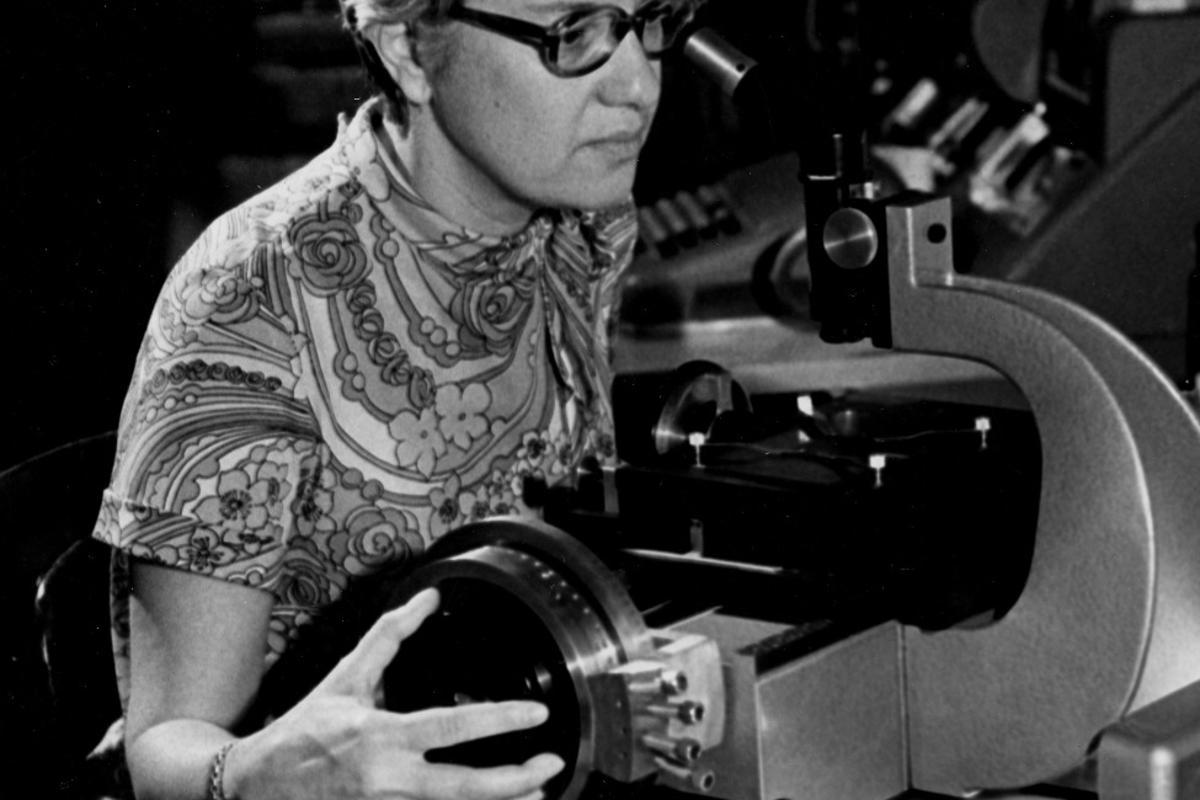 Astronomer Vera Rubin in 1974