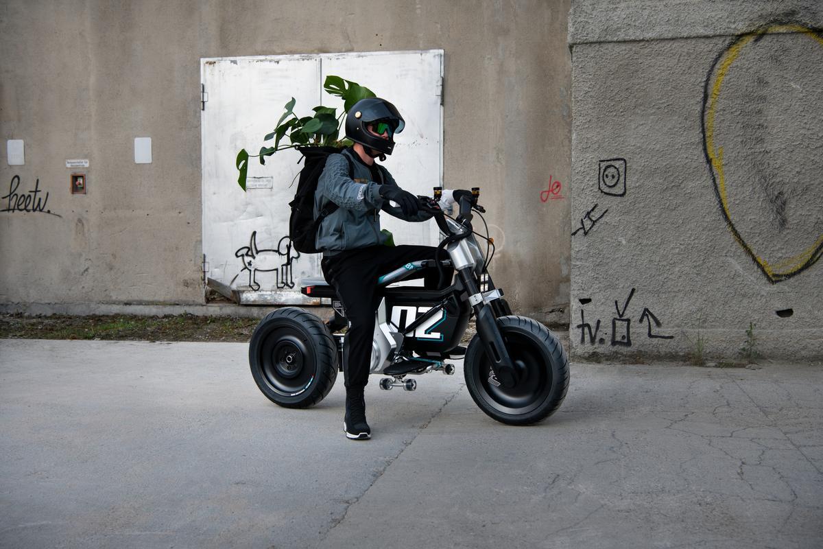 BMW Motorrad describes the Concept CE-02 as a new interpretation of smart, urban single-track mobility