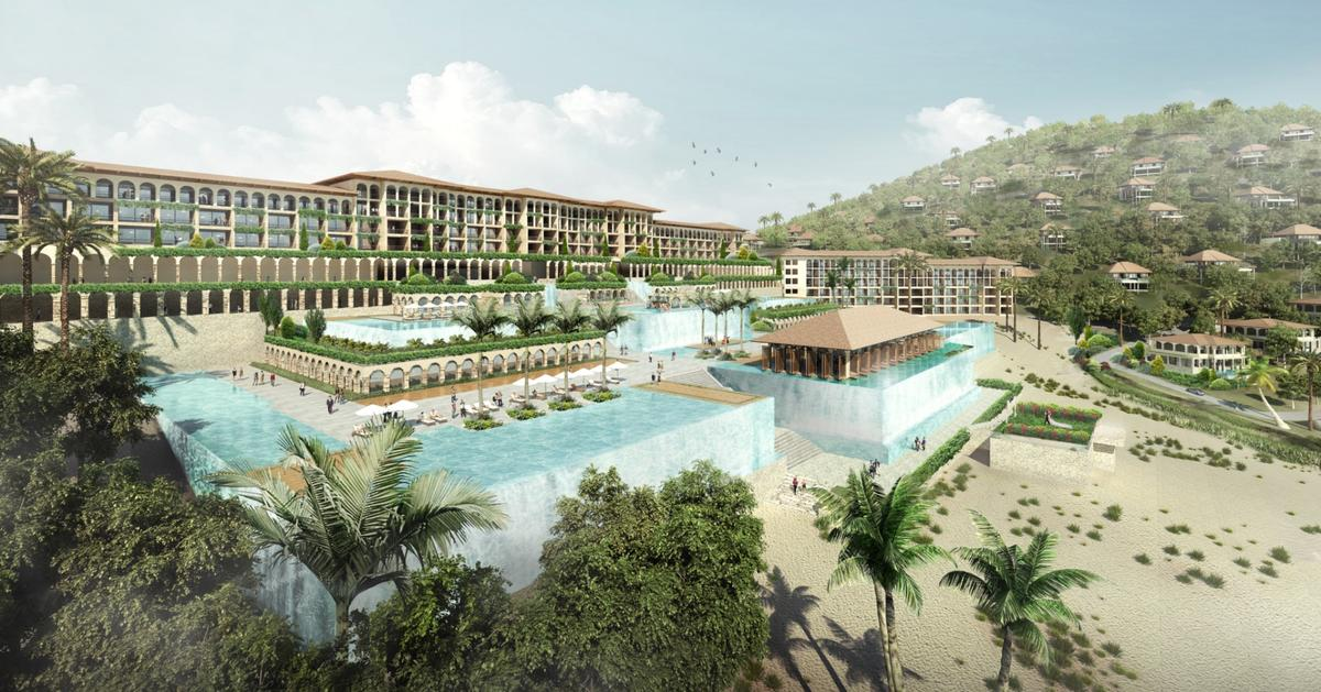 The mammoth Mui Dinh Ecopark development was designed by firm Chapman Taylor