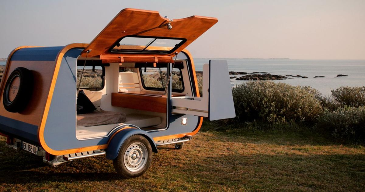 Carapate brings a fresh shape and plenty of fresh air to the teardrop trailer
