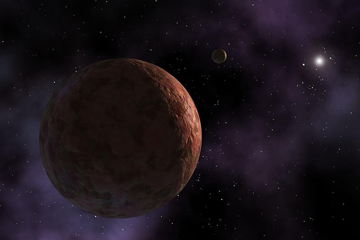 An artist's rendition of Sedna, a dwarf planet that lurks on the edgeof the Solar System