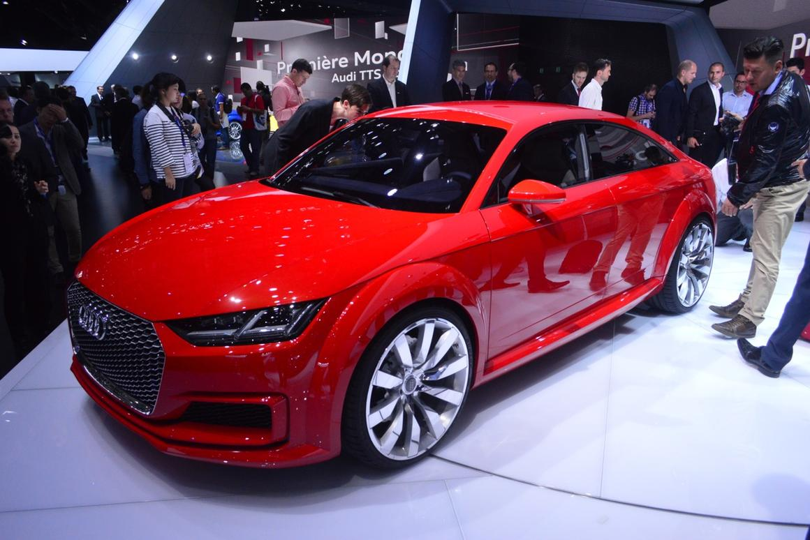 The Audi TT Sportback is a four door take on Audi's stylish coupe (Photo: C.C. Weiss/Gizmag)