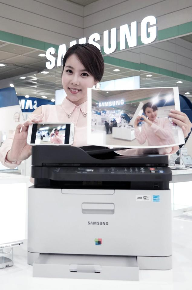 After launching the company's Mobile Print App, users just need to tap the smartphone on the printer to wirelessly send photos, documents, emails or browser content to the print queue