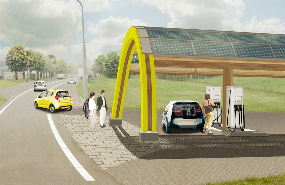 One of the planned EV charging stations
