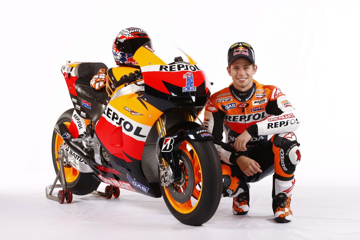 Casey Stoner with the RC213V
