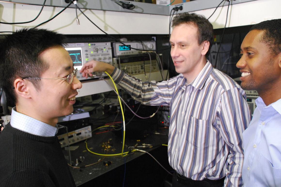 IBM researchers have developed their latest building block in their effort to achieve photon-based communication and computing. (Photo: IBM)